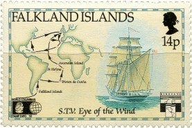 Eye of the Wind stamp of Falkland Islands
